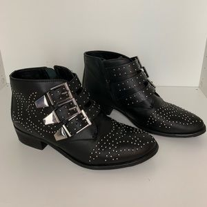Bronx Leather booties studded